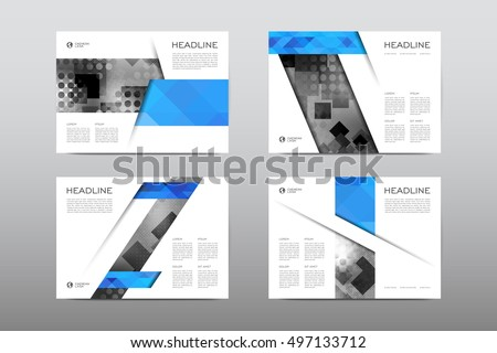 Business Leaflet Brochure Design Template With Abstract Geometri - Design brochure templates