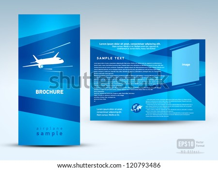 brochure plane flight tickets air fly cloud sky blue white color travel background