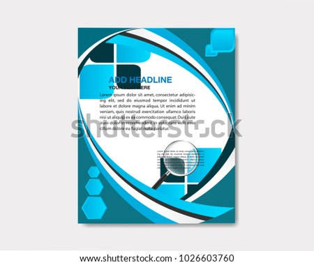 Brochure poster leaflet leaflet leaflet leaflet design space pattern for background photo template vector illustration in A4 size