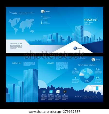 Brochure template design. Company profile. Concept of architecture design. Vector illustration