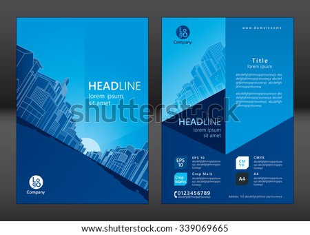 Brochure template design. Concept of architecture design. Vector illustration