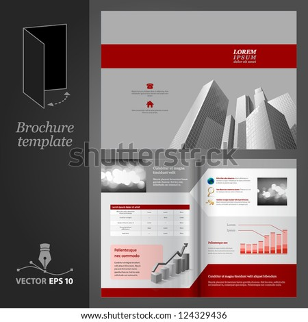 Brochure template design Modern business center