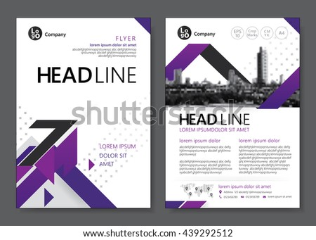Brochure template design. Vector illustration