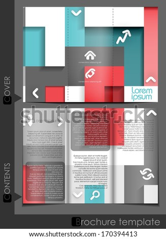 Brochure Template Design.  Vector Illustration. Eps 10. #170394413