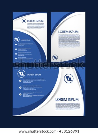 brochure template design with simple soft line elements in blue