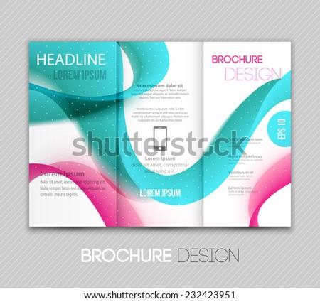 Template Design Of Blue Wave Trifold Brochure Download Free - Brochure templates design