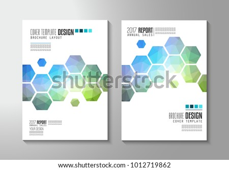 Brochure template, Flyer Design or Cover for business purposes. Elegant layout with space for text and images.