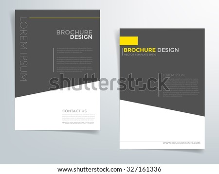 yellow and black modern brochure flyer design download free vector