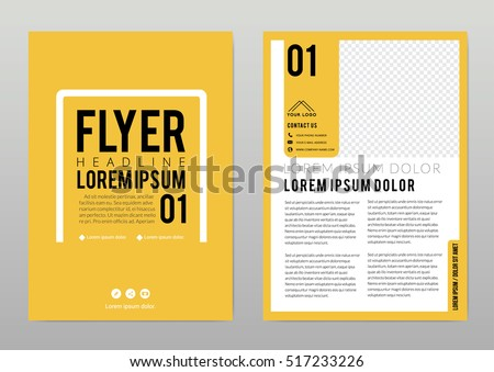 Brochure template layout, cover design annual report, magazine, flyer in A4