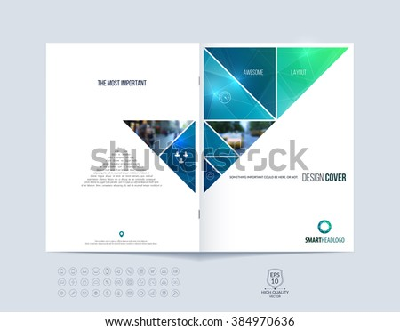 brochure template layout  cover