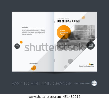 Brochure template layout, cover design annual report, magazine, flyer or booklet in A4 with blue squares, rectangles and overlap effect for business with industrial and modern concept. Vector.