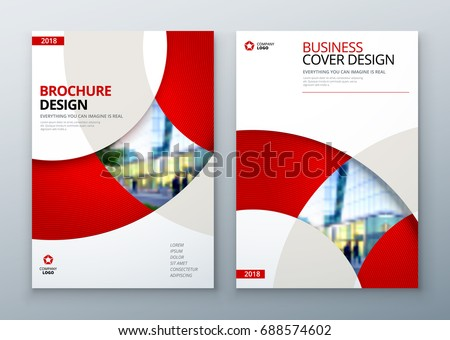 brochure template layout design....