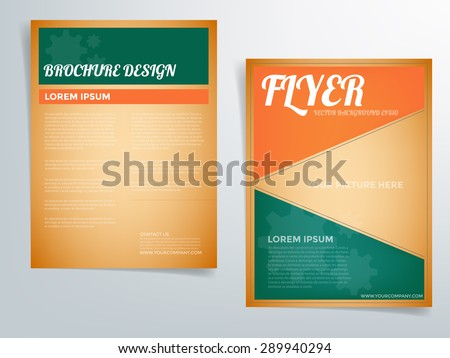 Green Color Brochure Flyer Template  Download Free Vector Art