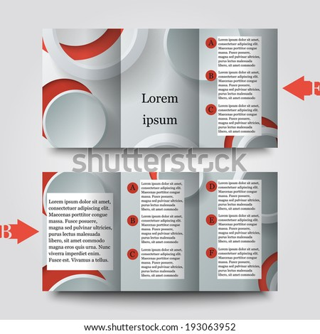 Brochure template with abstract background. Eps10 Vector illustration #193063952