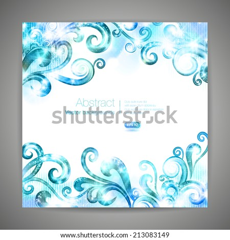 brochure template with swirls