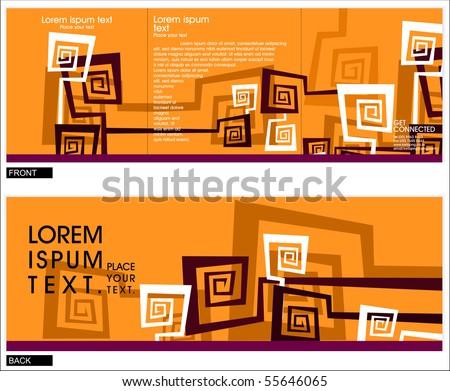 brochure ( tree-fold brochure ) cover template, vector illustration.
