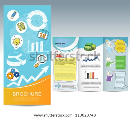 Brochure with hand drawn elements