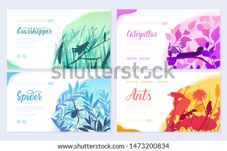 brochures with insects in the