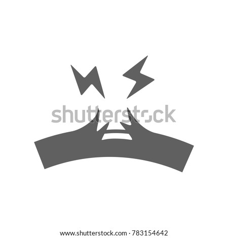 Broken cable icon vector