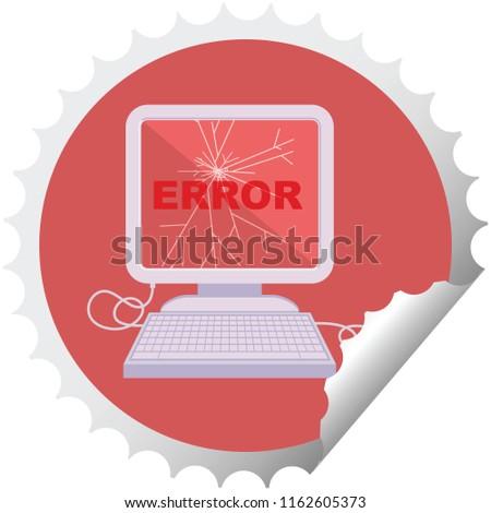 broken computer graphic vector