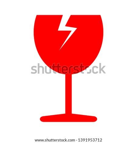 broken cup glass - cargo icon