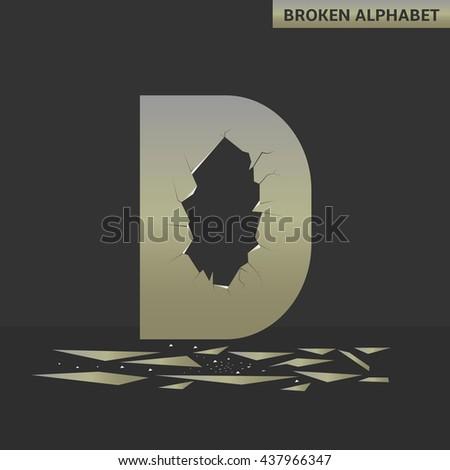 broken d letter mirror