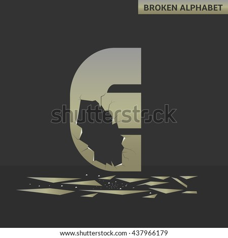 broken e letter mirror