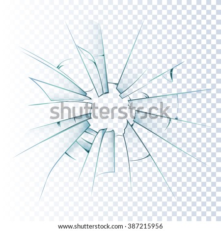 broken frosted window pane or