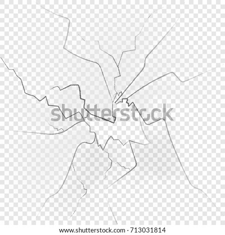 Broken glas isolated on transparent background. Vector illustration. Eps 10.