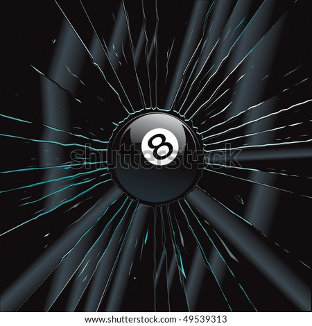 Broken Glass 2 8 Ball Vector Drawing