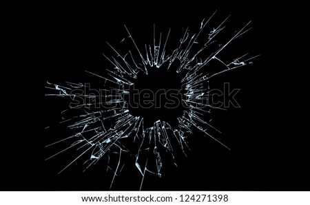 Broken glass illustration, fully editable vector