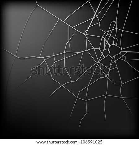 Broken glass is an abstract illustration of a design on a black background