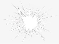 Broken glass on a white background. Vector illustration
