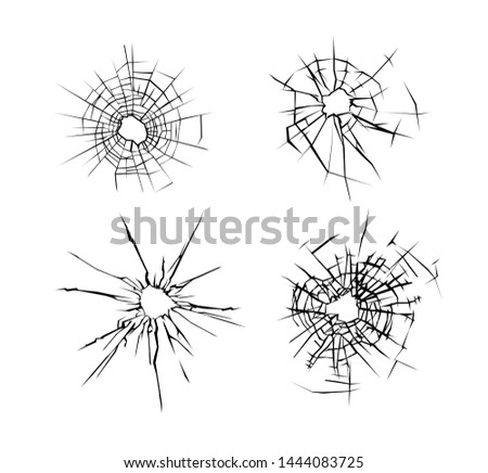 Vector Broken Glass Effect - Download Free Vector Art, Stock