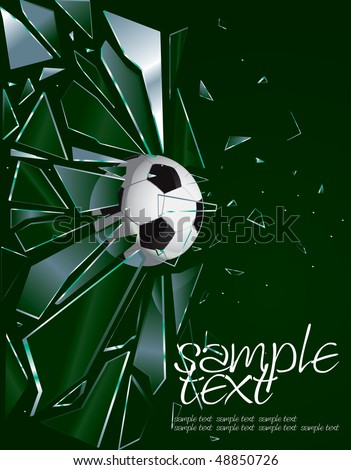 Broken Glass Soccer Ball 2 Vector Drawing