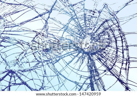 broken glass vector llustration