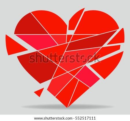 broken heart vector - download free vector art, stock graphics