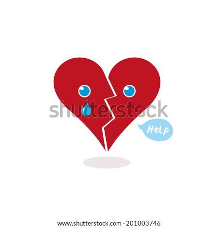 broken heart calling for help