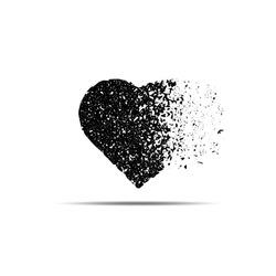 Broken Heart Concept illustration. Desperation and sadness, feeling hopeless illustration. Heart dissolving into pieces  Mental health issue.
