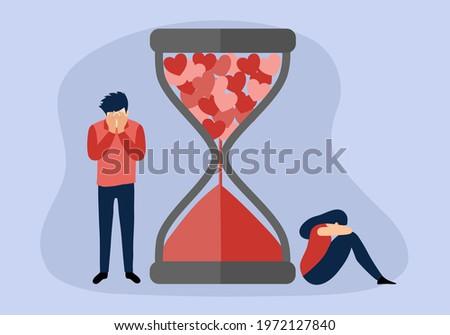 broken heart concept vector