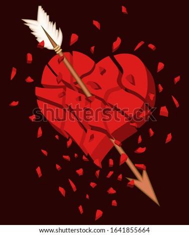 broken heart 3d background