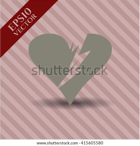 Broken heart high quality icon