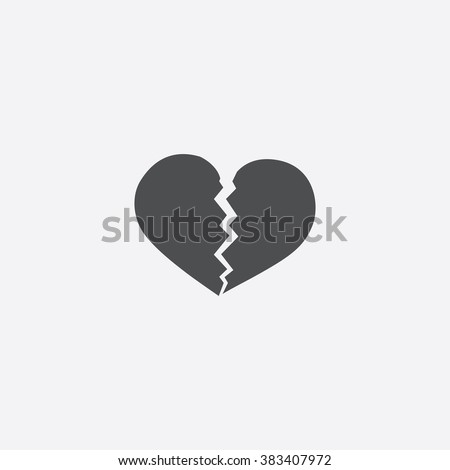 broken heart icon broken heart