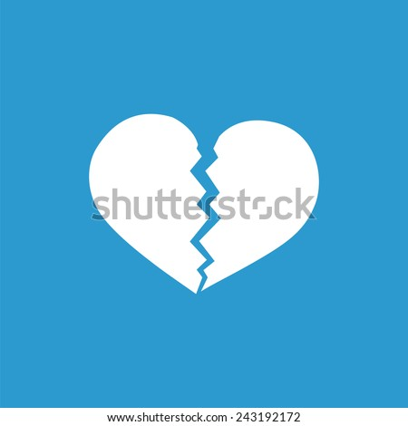 broken heart icon  isolated