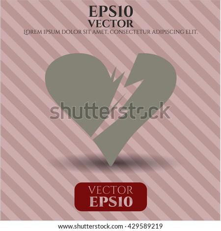 Broken heart icon or symbol