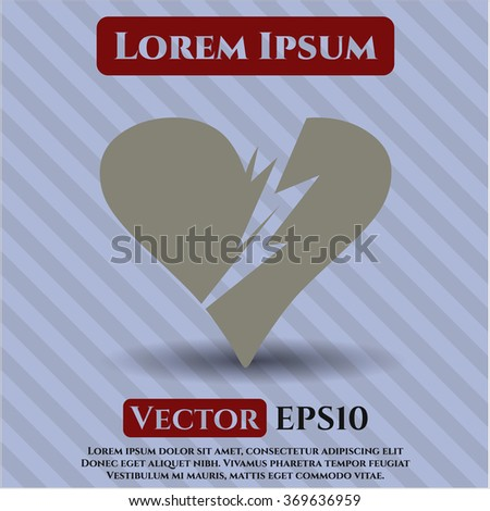 Broken heart icon vector illustration