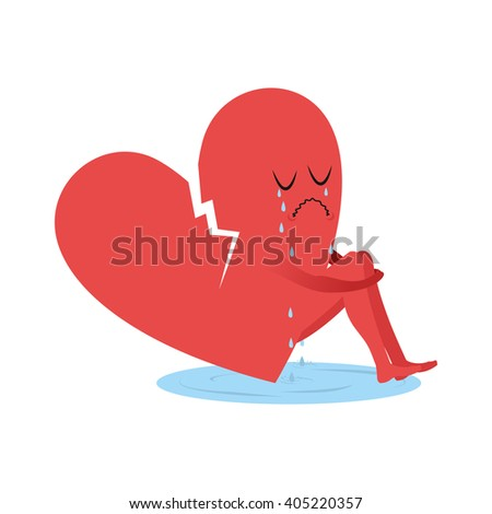 broken heart is crying symbol