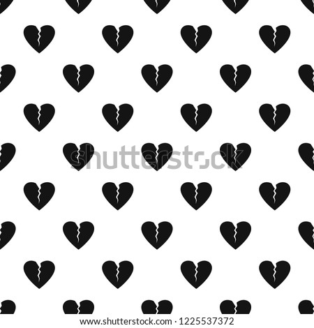 Broken heart pattern seamless vector repeat geometric for any web design