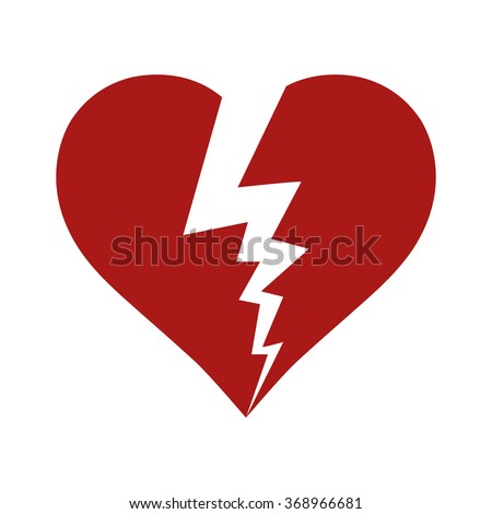 Broken Heart, vector icon