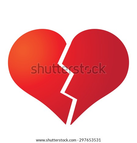 broken heart vector illustration